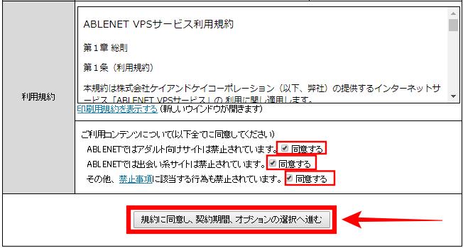 ablenet(エイブルネット)VPSデスクトップクラウド申し込み画面④