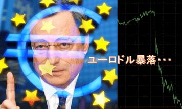 久々にドラギ砲炸裂!ECBドラギ発言後のユーロドルの下落が止まらない