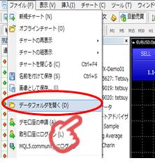 XM MT4 データフォルダ