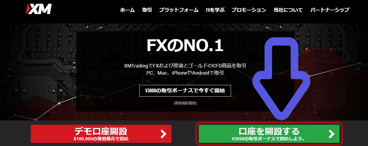 XM 口座解説 トップページ