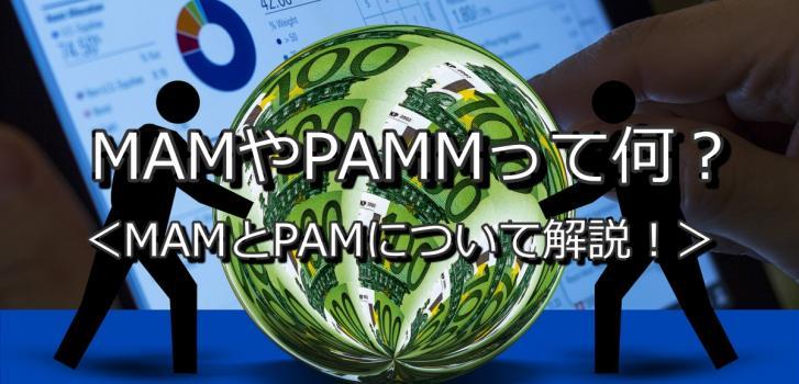 MAM(マム)やPAMM(パム)って何? 特殊運用方法であるMAMやPAMMにわかりやすく解説!